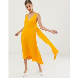 ASOS WHITE V back dress - Yellow, kolor żółty
