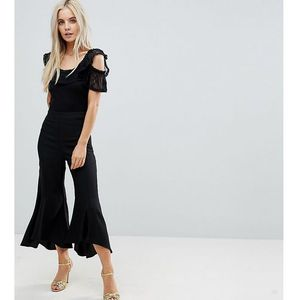 ASOS PETITE Tailored Soft Fluted Trouser - Black