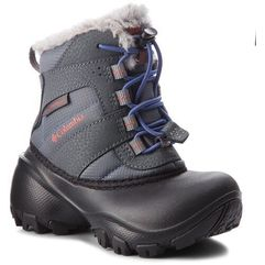 Śniegowce - childrens rope tow iii waterproof bc1323 ti grey steel/red canyon 033 marki Columbia