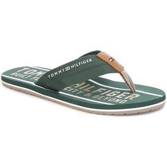 Japonki TOMMY HILFIGER - Smart Th Beach Sandal FM0FM01371 Jungle Green 300