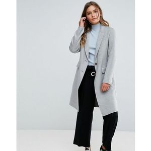 New look grey tailored coat - grey