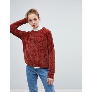 Daisy Street Relaxed Jumper In Chenille - Orange