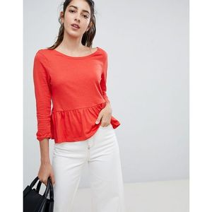 Brave Soul Theresa Frill Hem Top - Red
