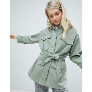 Monki Military Pocket Jacket - Green, kolor zielony