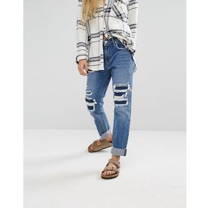 ezra slim boyfriend jeans - blue marki Lovers + friends