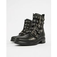 multi buckle leather ankle boots - black marki Aldo