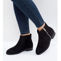 Asos design Asos accused wide fit ankle boots - black