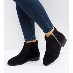 Asos accused wide fit ankle boots - black