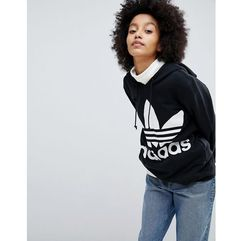 adidas Originals adicolor Trefoil Hoodie In Black - Black, kolor czarny