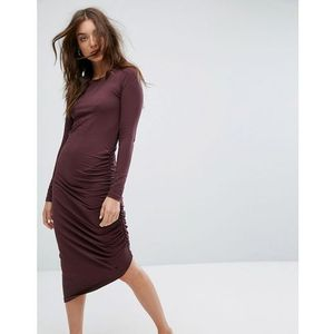 ruched detail dress - brown, Noisy may, 34-40
