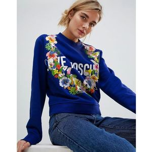 Love Moschino Tropical Logo Sweater - Blue