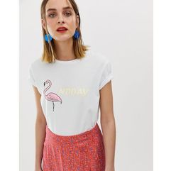 2ndday flamingo t-shirt - white marki 2nd day
