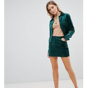 Weekday velvet mini skirt - green