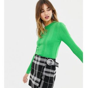 vertical ribbed jumper in bright green - green marki Stradivarius