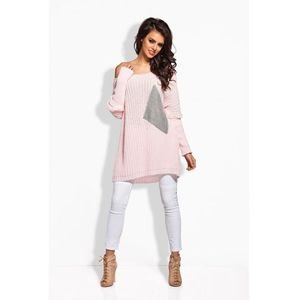 Sweter Damski Model LS166 Light Pink/Light Grey