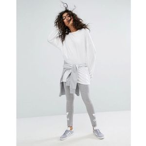 trefoil legging in grey - grey marki Adidas originals