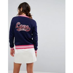 Love Moschino Sporty Knit Cardigan - Blue