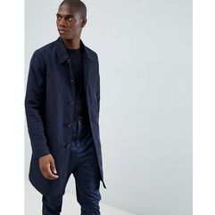 ASOS DESIGN shower resistant trench coat in navy - Navy