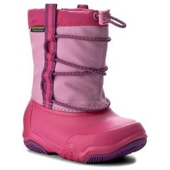 Śniegowce - swiftwater waterproof boot k 204657 party pink/candy pink marki Crocs