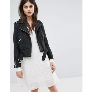 AllSaints Willow Biker Jacket - Black, kolor czarny