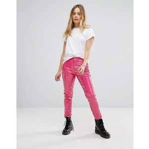 Glamorous skinny trousers in high shine vinyl - pink