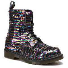 Dr. martens Glany - 1460 pascal seqn 24594980 rainbow multi/silver