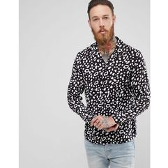 AllSaints Shirt With Animal Print In Black - Black