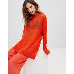 Y.A.S Oversize Fine Gauge Knit - Orange