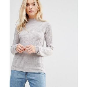 Brave Soul Turtle Neck Rib Jumper - Grey, 1 rozmiar