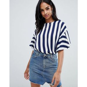 striped 3/4 sleeve top - black, Ax paris