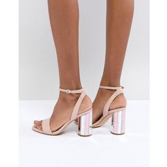 two part ankle strap going out show with mirror heel - pink marki Aldo