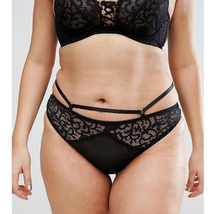 City chic anika thong - black