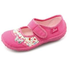 girls kapcie papillon pink marki Beck