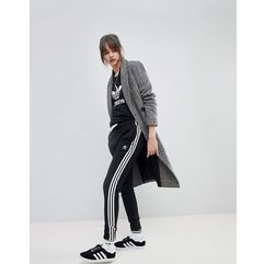 Adidas originals adicolor three stripe track pants in black - black