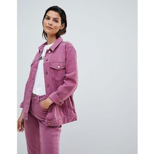 slouchy western denim jacket - pink marki French connection