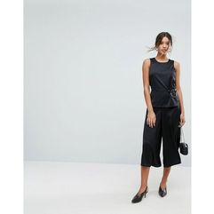 wide leg jumpsuit with ring detail - black, Aeryne, 34-40