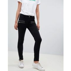 2ndday skinny jeans with zip detail - black marki 2nd day