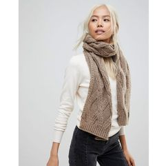 French connection chunky oatmeal knitted scarf - beige