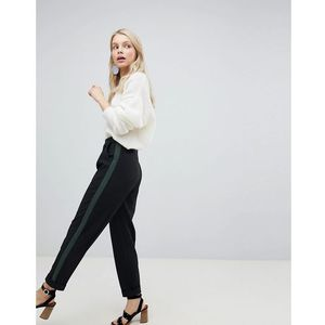 Miss Selfridge Turn Up Tapered Trousers - Black