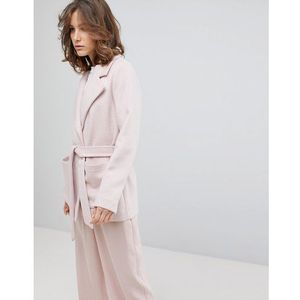 Selected cropped trench coat - pink