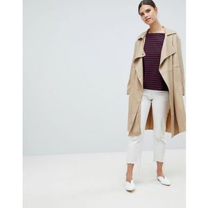 French connection erna drape wool blend short trench coat - cream