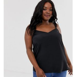 New look plus New look curve cross back cami in black - white