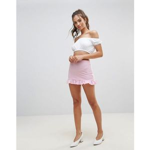 Lasula Frill Bottom Skirt - Pink, kolor różowy