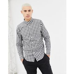 Abercrombie & Fitch long sleeve poplin shirt - Grey, kolor szary