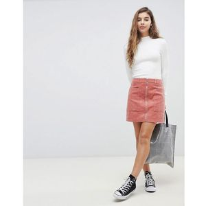 Pimkie zip front cord mini skirt - pink