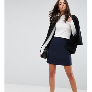 Asos tall tailored a-line mini skirt - navy