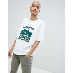 adventure oversized t-shirt in white - white marki Adidas originals