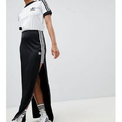 fashion league maxi skirt with extreme slit - black, Adidas originals