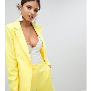 Missguided tailored blazer - yellow