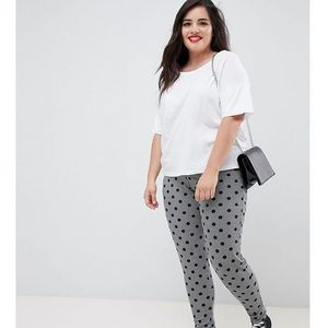 Asos design curve leggings in houndstooth check with spot print - multi marki Asos curve